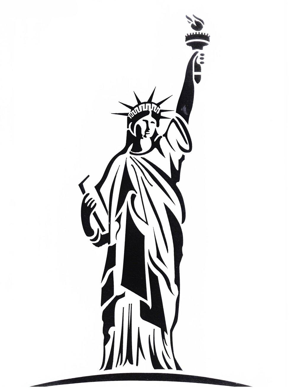 Pochoir Statue de la Liberté A4