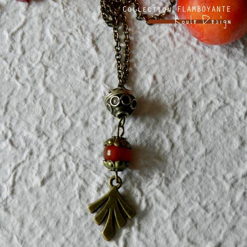 Collier aux couleurs d'automne