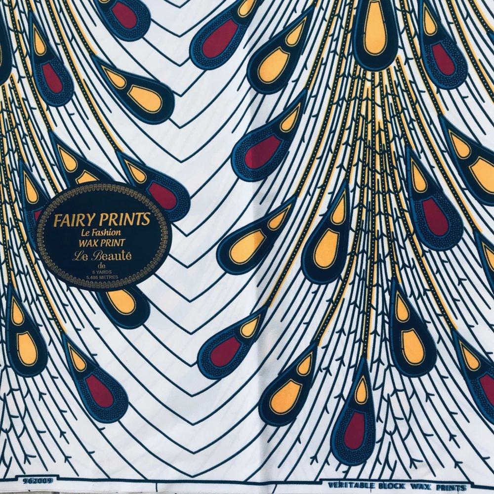 Tissu Wax - Feu d'Artifice Multicolore - Fairy Prints Garanteed Block Wax Prints