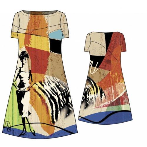 Tissu jersey - cindie - panneau 150 x 150cm - stenzo - oeko tex standard 100