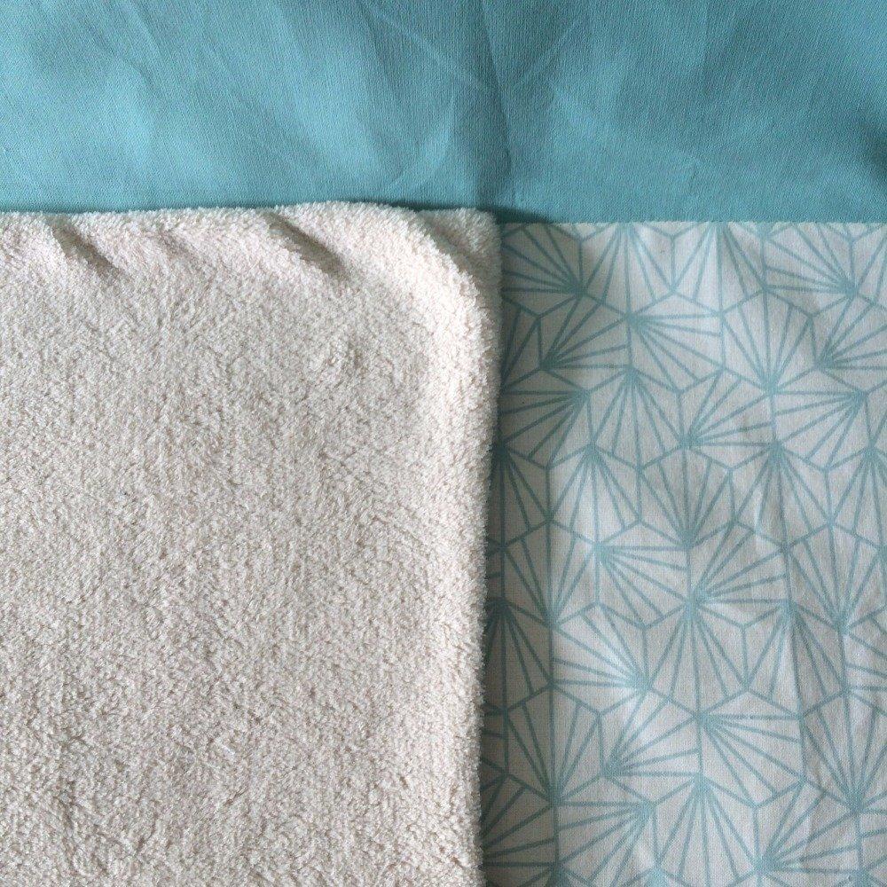 couverture bébé personnalisable polaire beige et cygnes origami vert