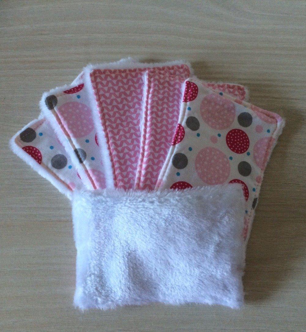 lingettes lavables bébé en polaire et tissus
