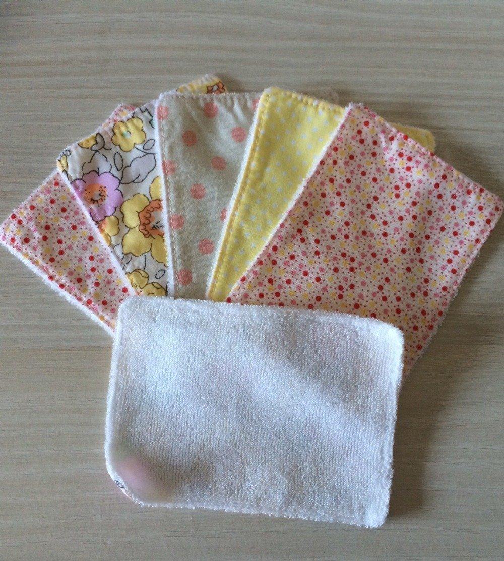 lingettes démaquillantes lavables en tencel d'eucalyptus et tissus