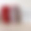 Essuie-tout lavable en éponge rouge et blanc