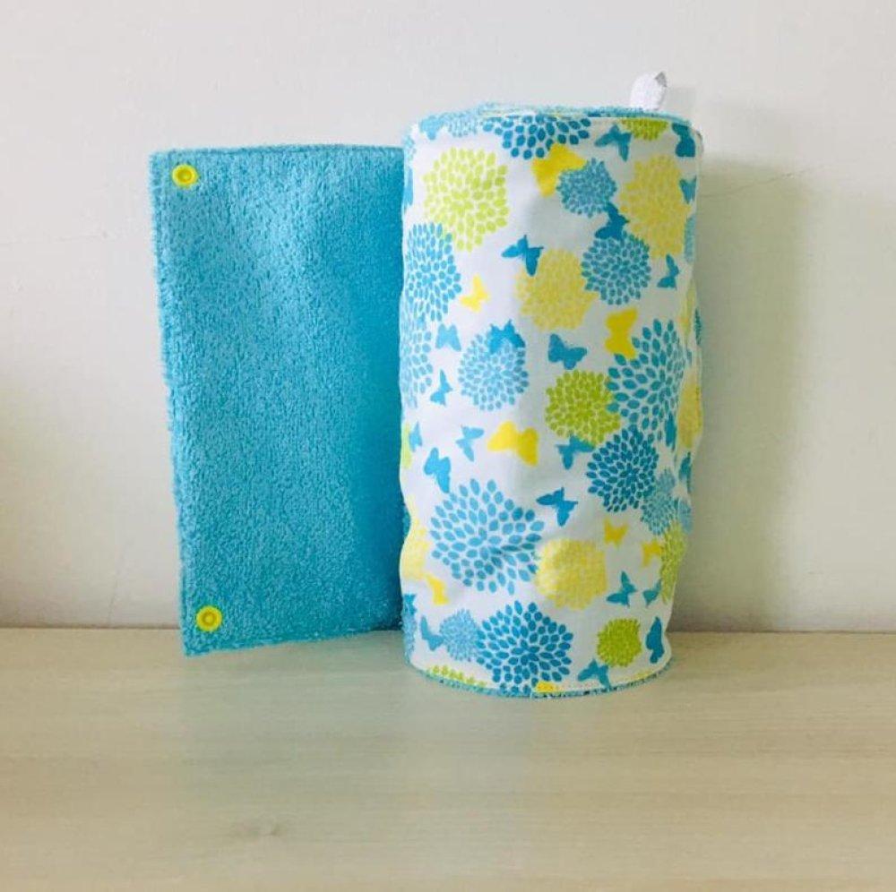 essuie-tout lavable en éponge et tissu motifs papillons