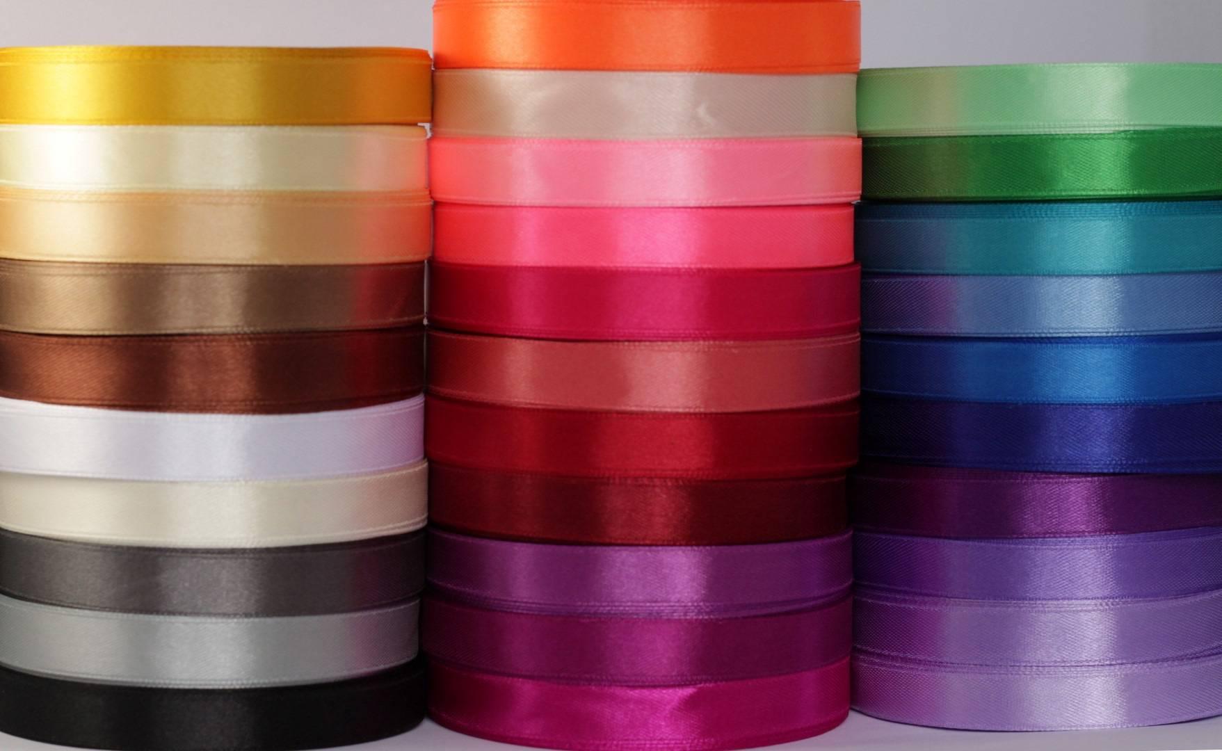 Grand Lot de 87 m rubans satin * largeur 12 mm * 29 couleurs