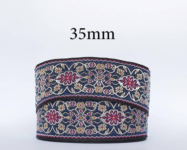 Galon médieval/oriental brodé jacquard largeur 35 mm