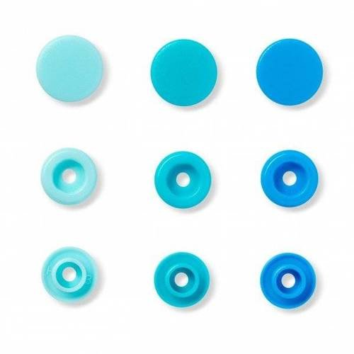Boutons pression prym love assortiment de bleu prym 393 000