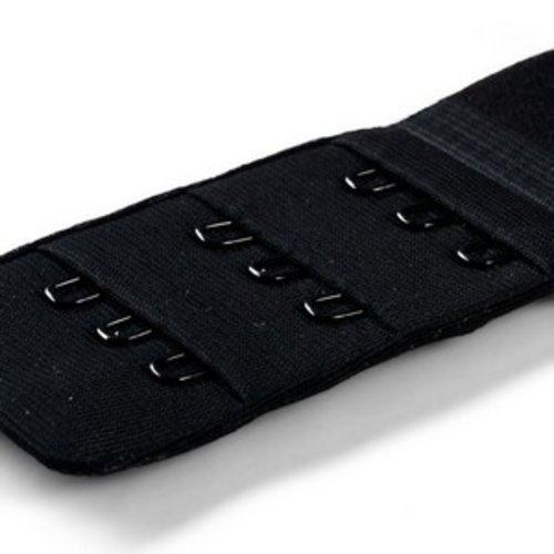 Rallonge attache de soutien-gorge noir 40 mm 3 x 3 crochets prym 992146