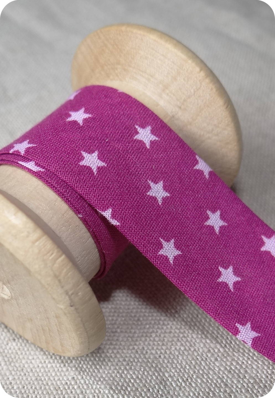 Biais étoile rose fuchsia -  Froufrou