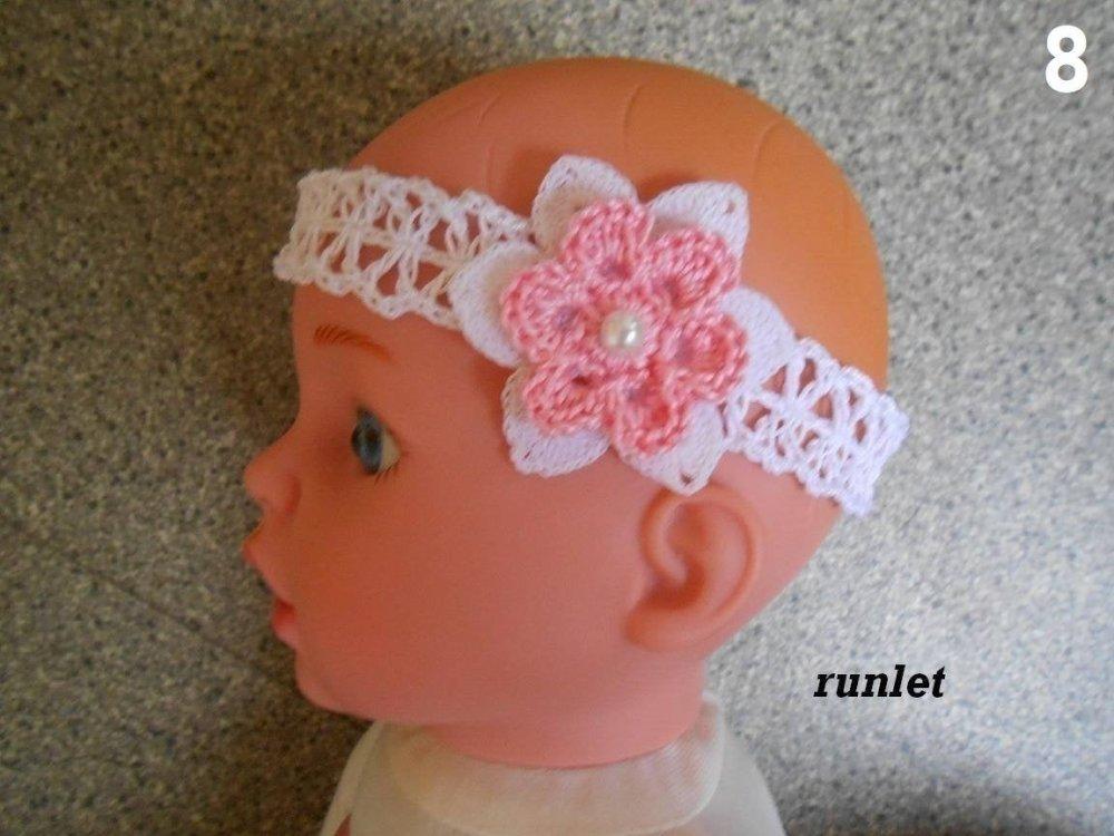 Bandeau bébé fleurs, bandeau cheveux