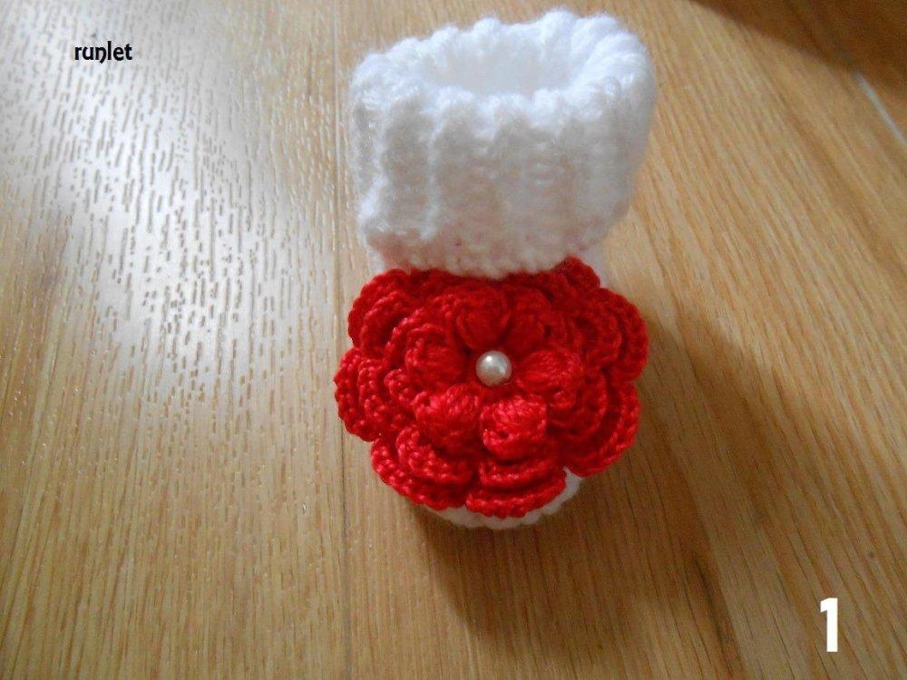 chaussons bébé fille laine