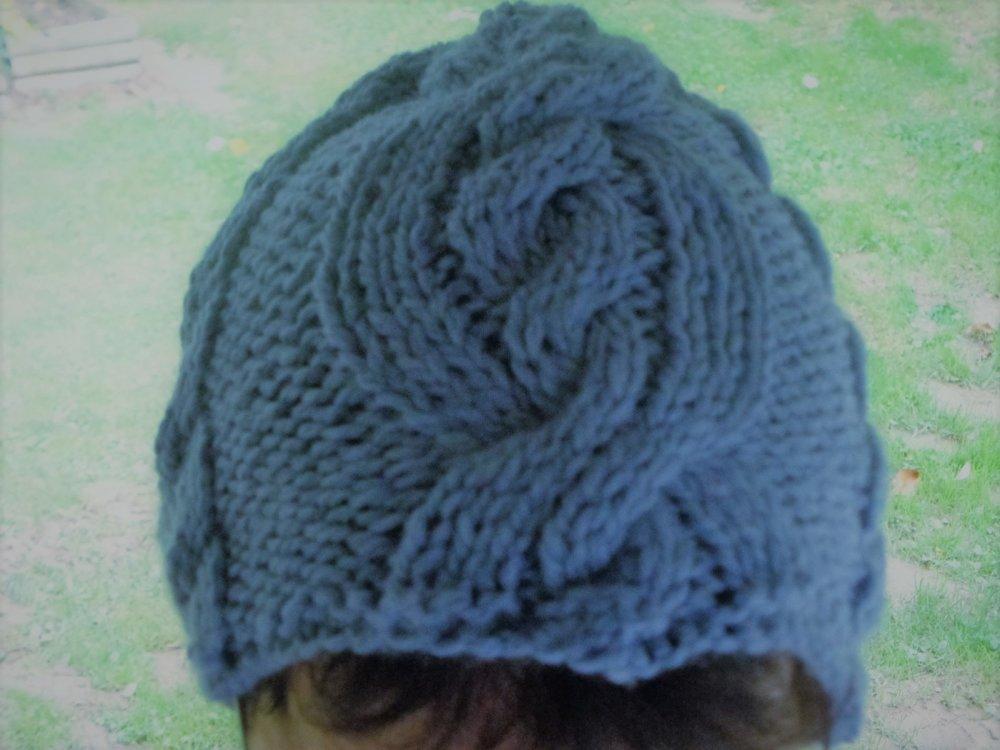 Bonnet unisexe motif irlandais,gris bleu,laine et acrylique,collection automne hiver,tendance,bonnet d'hiver,chapeau,béret,RyryseCrétaions