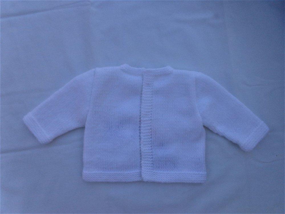 Brassière et bonnet bébé,naissance,blanc,layette,tricot laine,cadeau maternité,ensemble naissance,gilets pulls,RysyeCréatio
