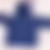 Manteau bébé unisexe,12 mois,laine acrylique,bleu marine