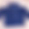 Manteau bébé fille,12 mois,col montant,laine acrylique,bleu marine