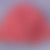 Bonnet bébé 12 mois,rayures rouge gris clair,laine acrylique