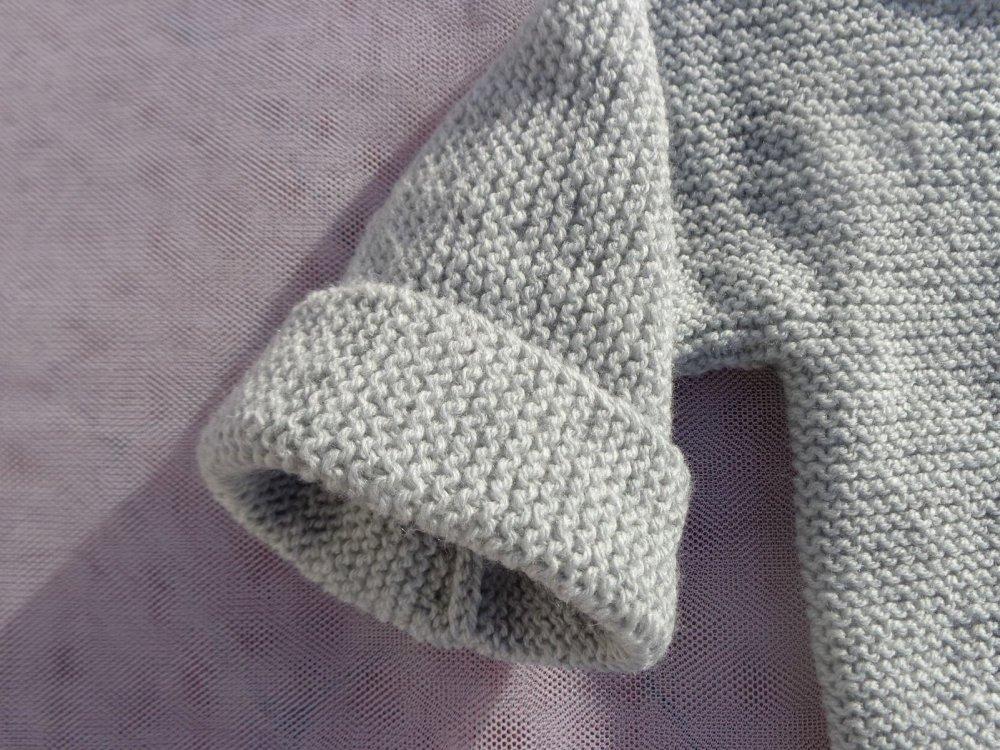 Pull bébé garçon,24 mois,gris clair,laine acrylique,marinière,sweat,cadeau anniversaire fêtes,