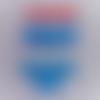 Brassière bébé,cache coeur bébé,gilet bébé,tricoté main,laine acrylique,corail,bleu ciel,bleu,blanc,turquoise,cadeau naissance ma