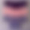 Brassière bébé,tricoté main,point mousse,laine acrylique,cadeau naissance,maternité,lilas foncé,rose,ryrysecréations