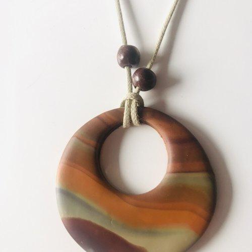 Marronnier pendentif argile polymère