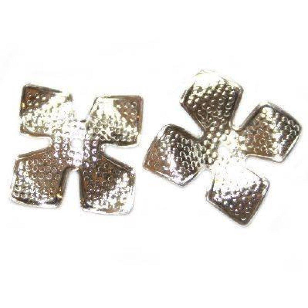 4 apprêts décoratifs nénuphar 14 mm