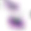 Cabochon dome en verre de 18 mm illustré d'un oeil bleu, violet , noir,