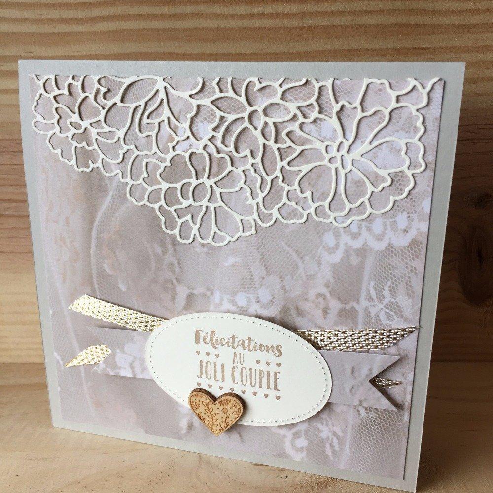 Carte De Félicitations Pour Un Mariage