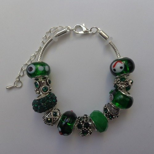 charm pandora vert