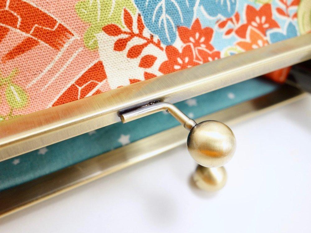 Grande trousse à fermoir en coton japonais Kokka