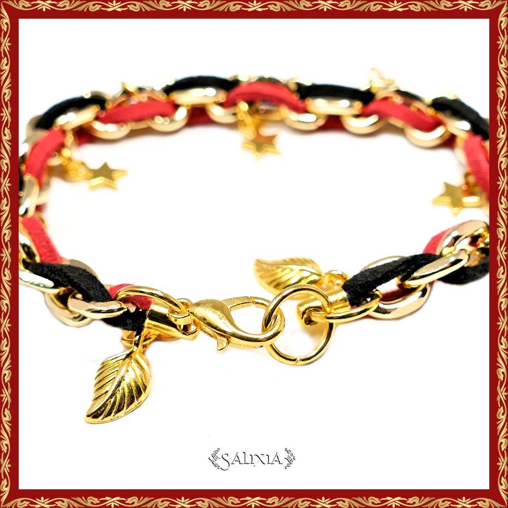 Bracelet à breloques étoiles dorées (#BC7)