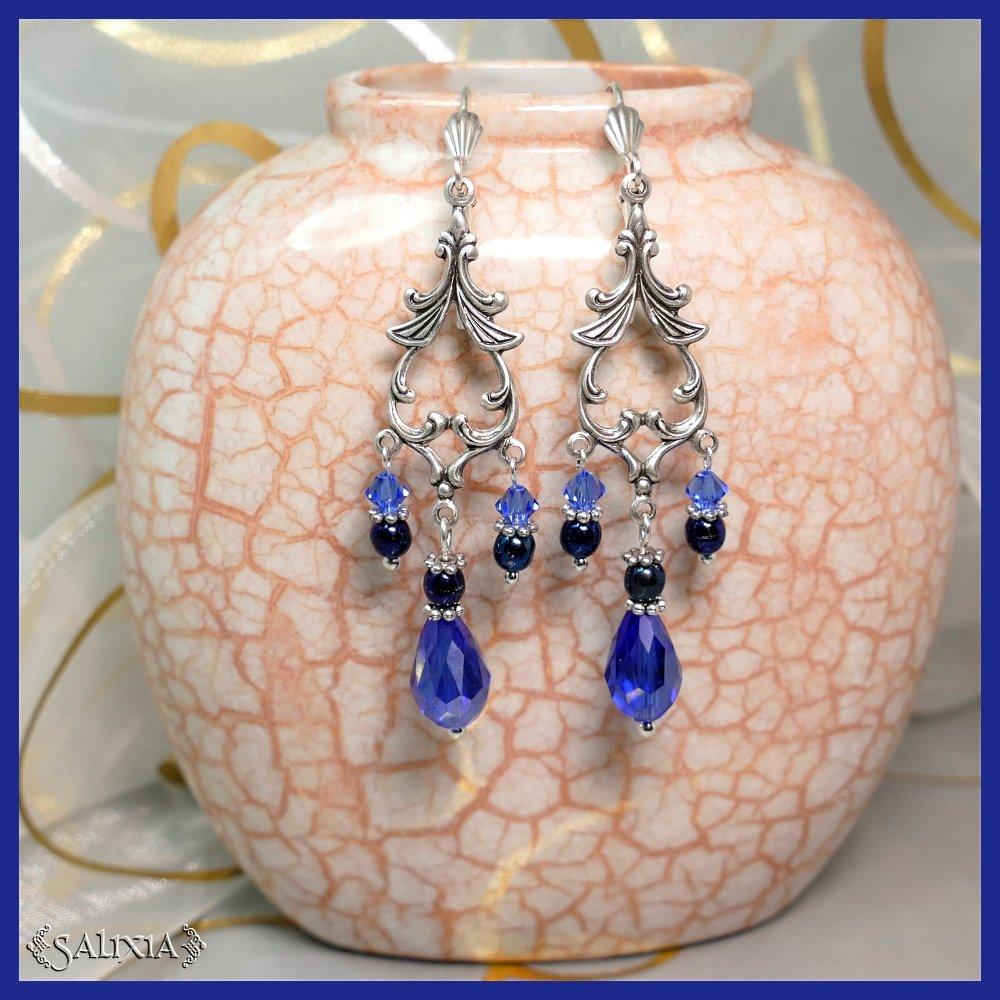 VENDUES - Boucles d'oreilles cristal et perles de Bohême (#BO301)
