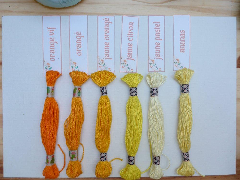 Echeveau 11m - coton mercerisé - colori ananas