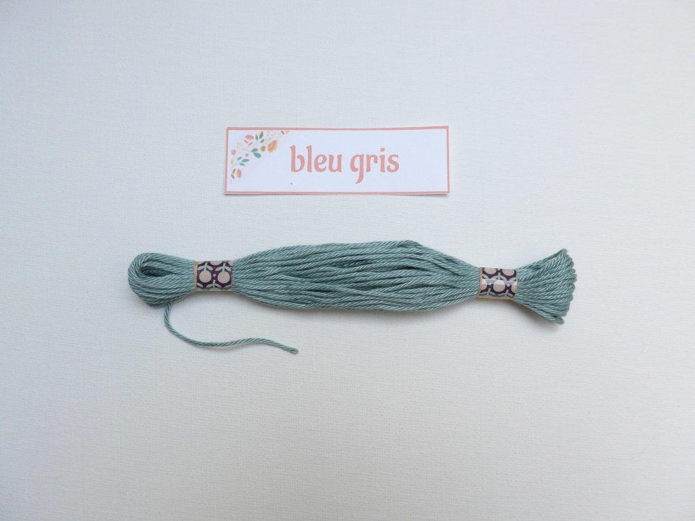 Echeveau 11m - coton mercerisé - colori bleu gris