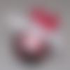 Coussin de mariage thème amour rouge forme nid prénoms brodés personnalisé