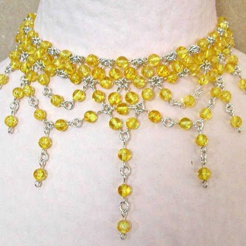 collier ras de cou ambre