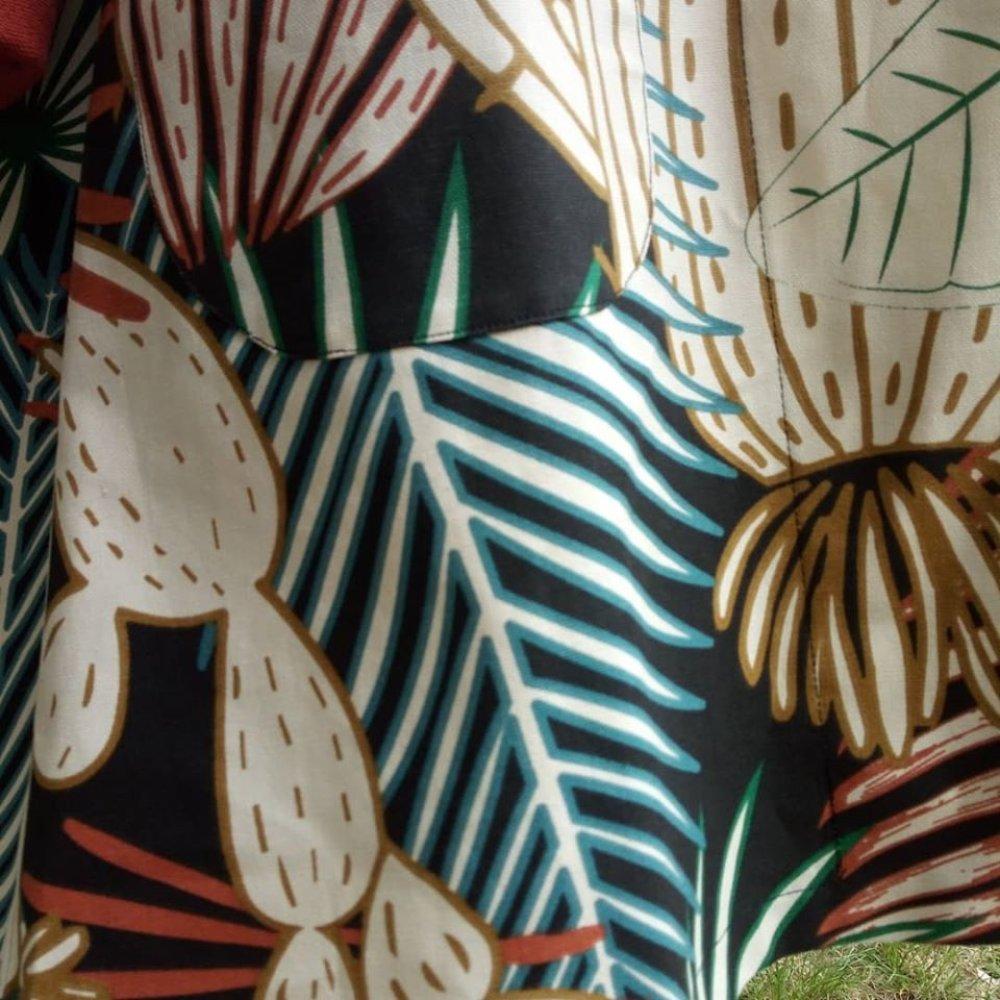 trench femme printemps motif jungle