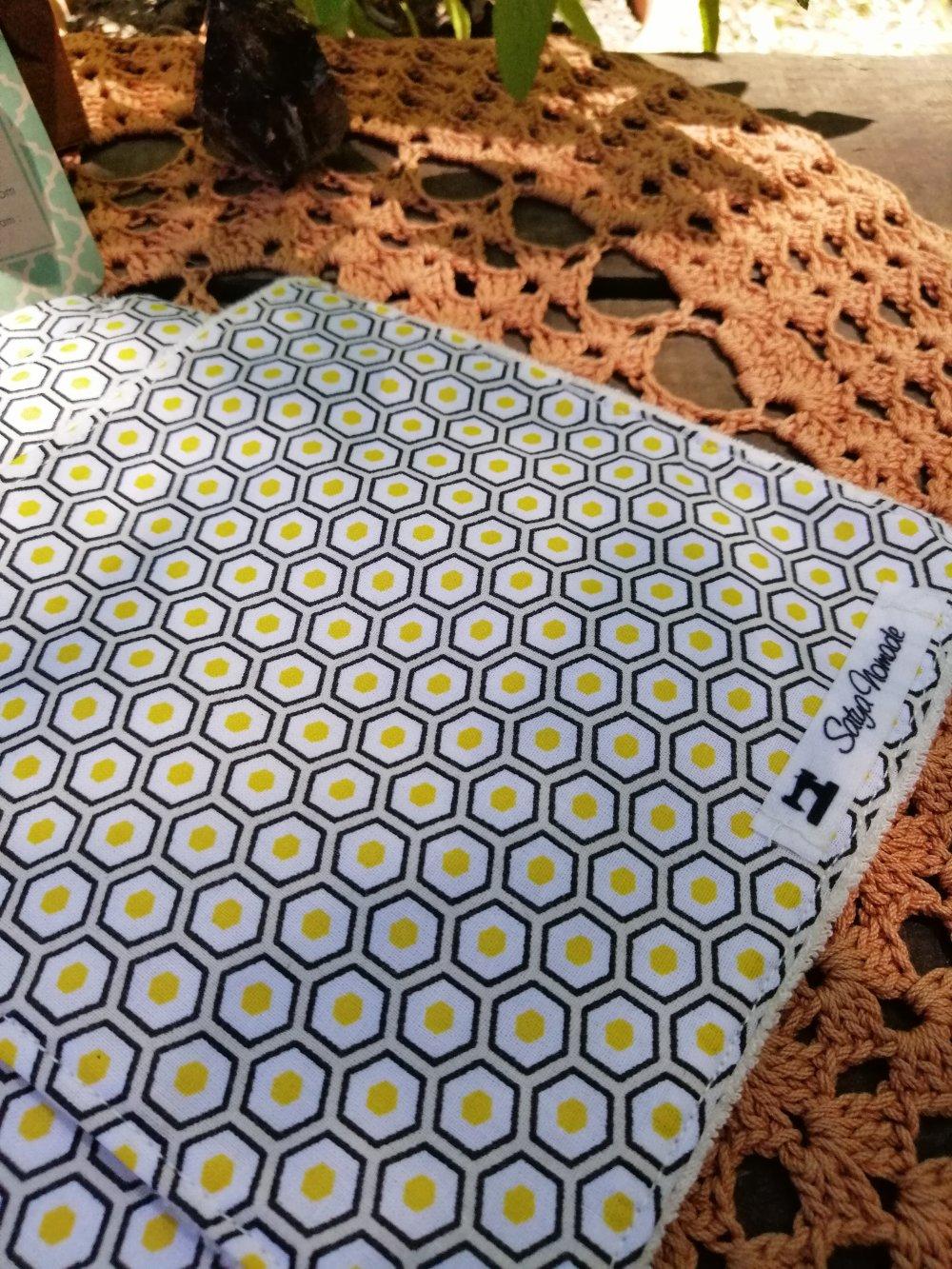 """Lot de lingettes lavables zéro déchet  motifs """"Nid d'abeille"""""""