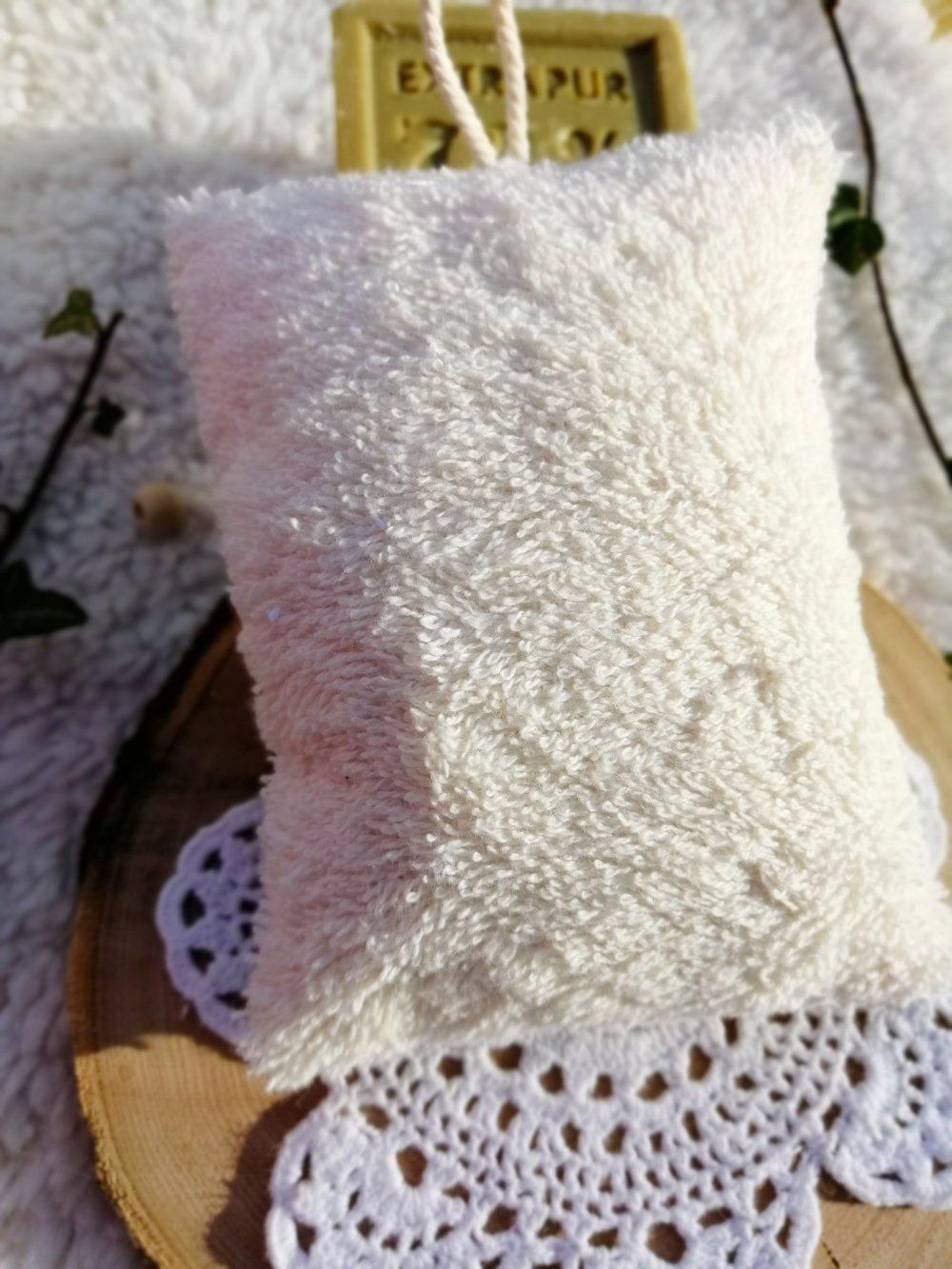 Eponge lavable en wax orange et éponge de coton bio