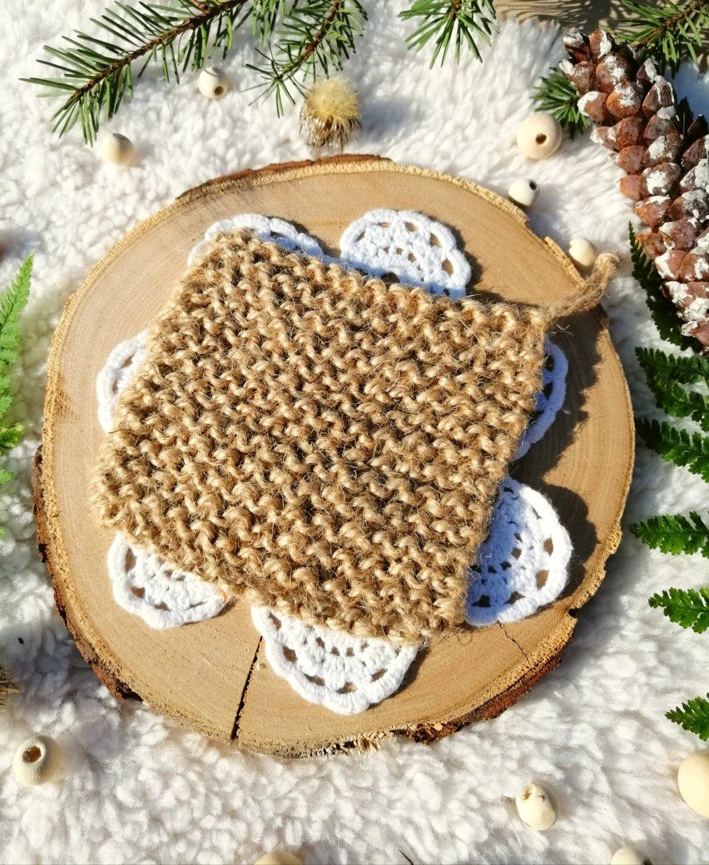 Tawashi gratte-gratte zéro déchet - éponge abrasive naturelle
