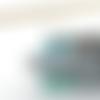 Boucles d'oreilles perles toupies et nacre cristal swarovski bleu et vert