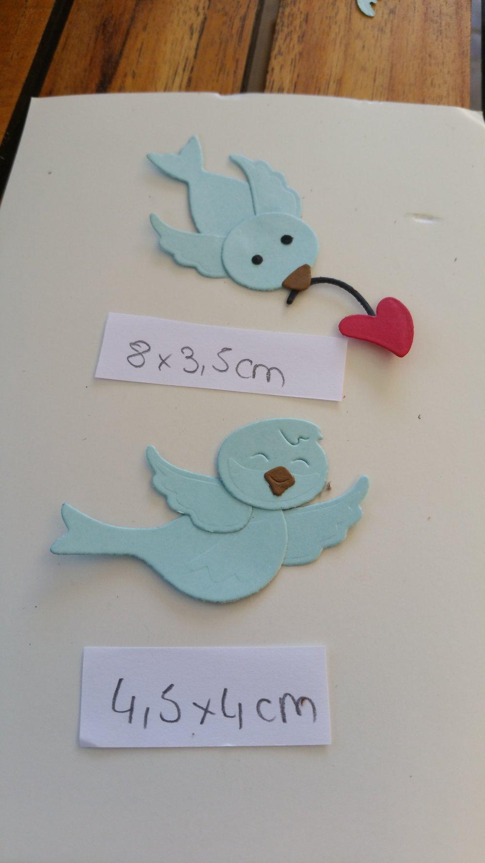 Découpe petit oiseaux moineaux x 2