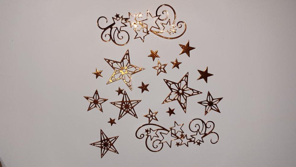 Lot découpes étoiles