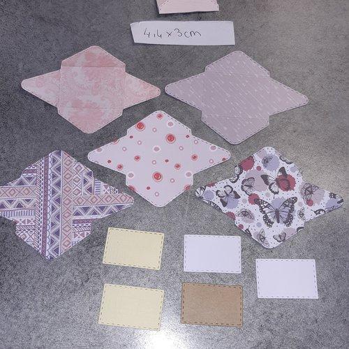 Lot de mini enveloppe scrapbooking