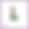 Découpe scrapbooking ariel la petite sirène robe princesse en couleurs, embellissement die cut (ref.1065)
