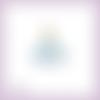 Découpe scrapbooking cendrillon assise princesse en couleurs (ref.1074)