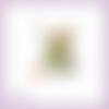 Découpe scrapbooking fée, fleur, elfe, princesse, robe verte, magie, fille, en couleurs - ref.2526