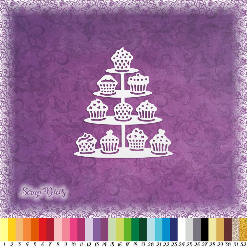 Découpe scrapbooking Gâteaux, cupcakes, mariage, fête anniversaire embellissement die cut découpe papier scrap (Ref.2599)