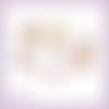 4 découpes scrapbooking accessoires femme, parfum, mannequin, brosse couture, robe en couleurs embellissement die papier scrap (ref.2652)
