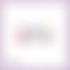 Découpe scrapbooking oeufs de pâques, lapins, chocolat, noeuds rose et bleu embellissement die cut découpe papier scrap (ref.2672)